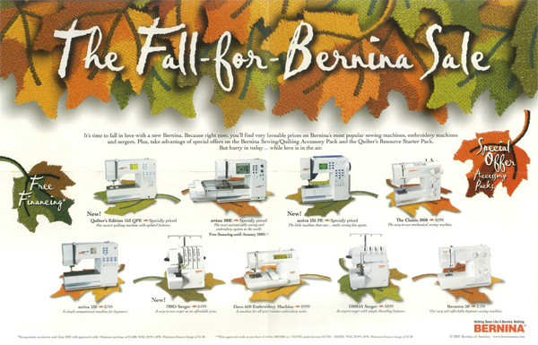 Bernina Direct Response Letter
