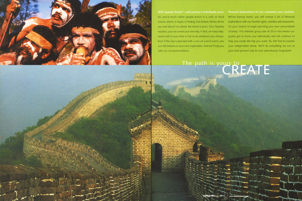 Tapestry Travels Brochure